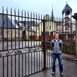 Chris at the gates to Rochefort